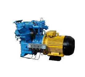 Купить Установка компрессорная 2ВУ1,5-2,5/26М1. Компрессор двухступенчатый. Охлаждение проточной водой. Смазка принудительная от шестеренчатого насоса. Разгрузка компрессора и сброс конденсата автоматические.