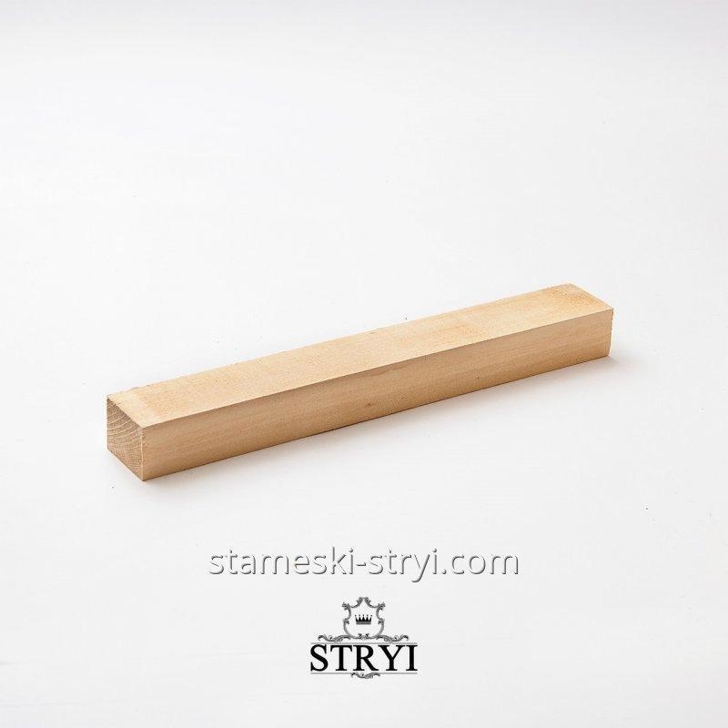 Брусок-заготовка с дерева липа для резьбы статуэток и других фигур, размер: 300*30*40арт.LB-02