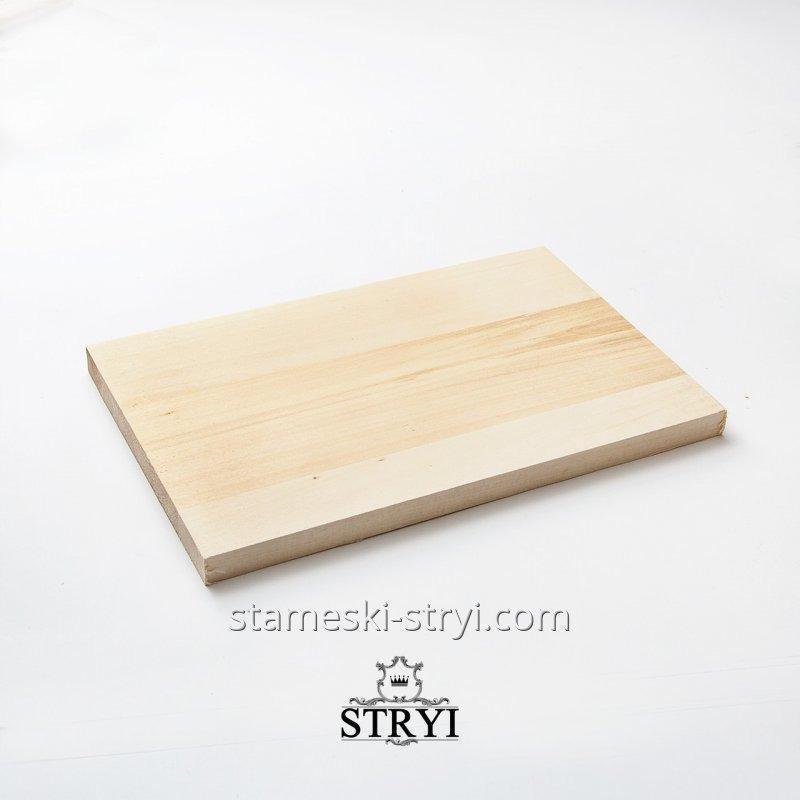 Деревянная заготовка доски для резьбы по дереву, липа, размером 300*200*20мм, арт.703020