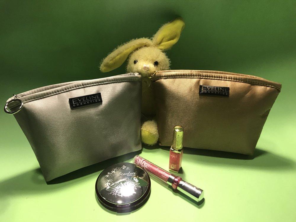 Купить Подарочный набор: Косметички золото/серебро EVELINE+косметика