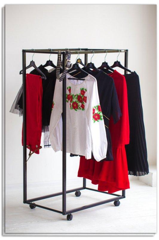 Рейл для одежды Fenster Квадро 3 Черный 125х70х47