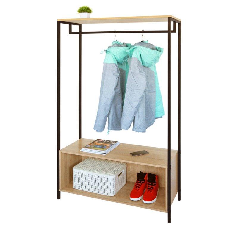 Рейл для одежды Fenster Квадро 10 Дуб Сонома 160х95х36,5