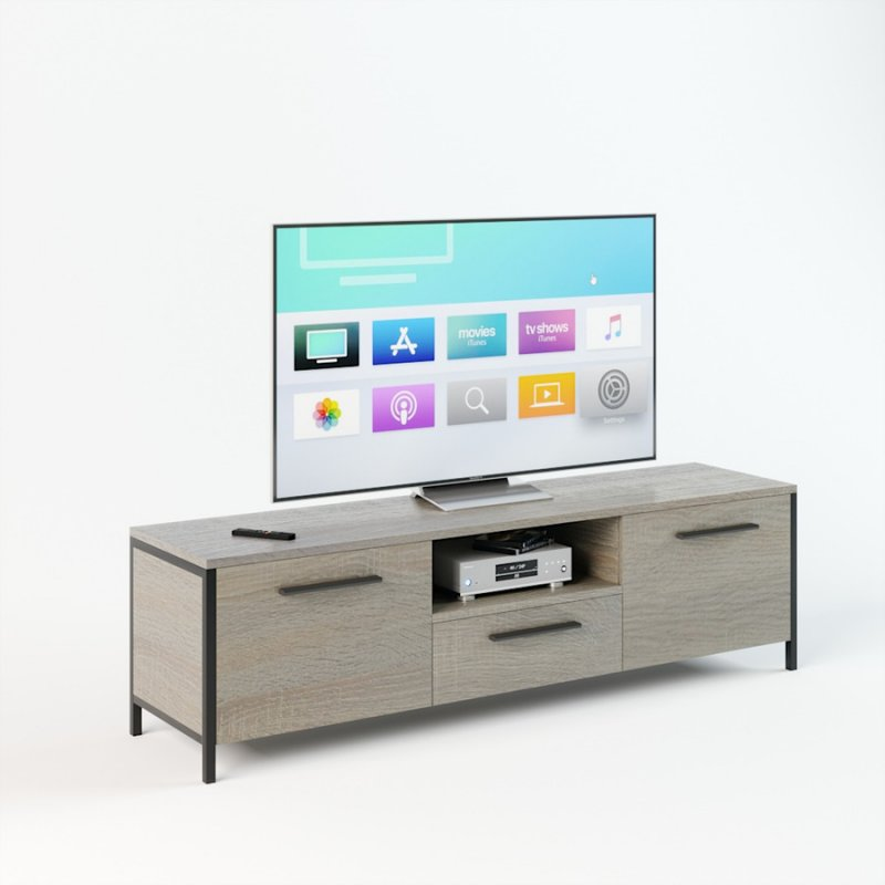 Тумба под телевизор UNTV 01B 42,5×150×37 Дуб сонома
