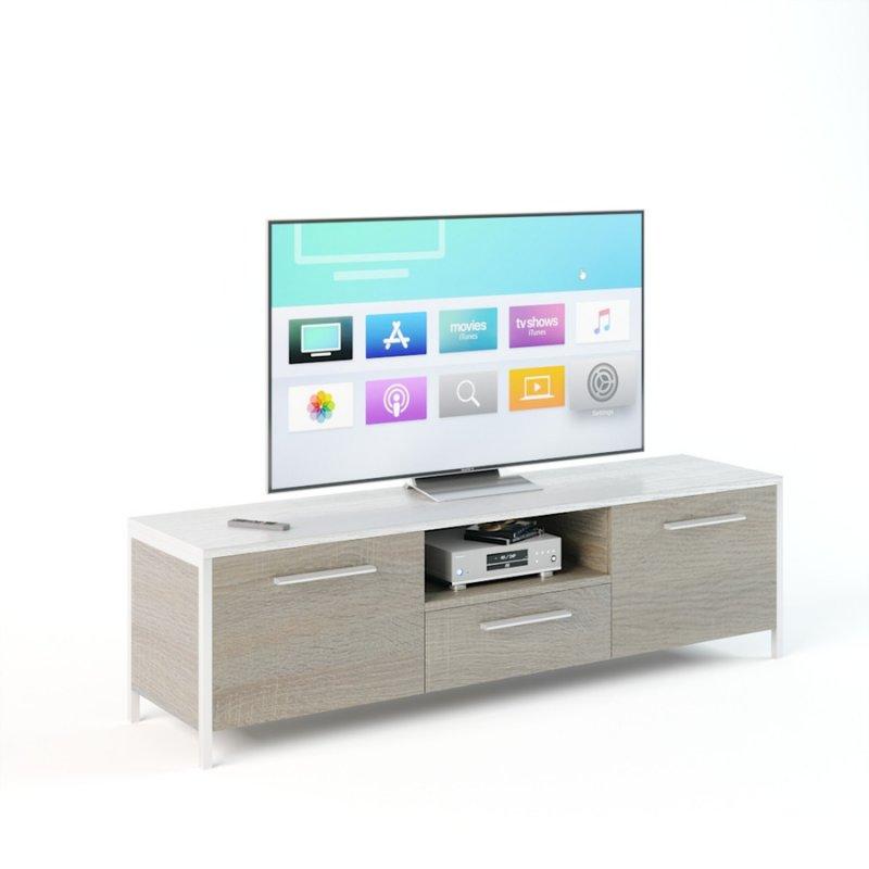 Подставка для телевизора UNTV 01W 42,5×150×37 Дуб сонома/Белый