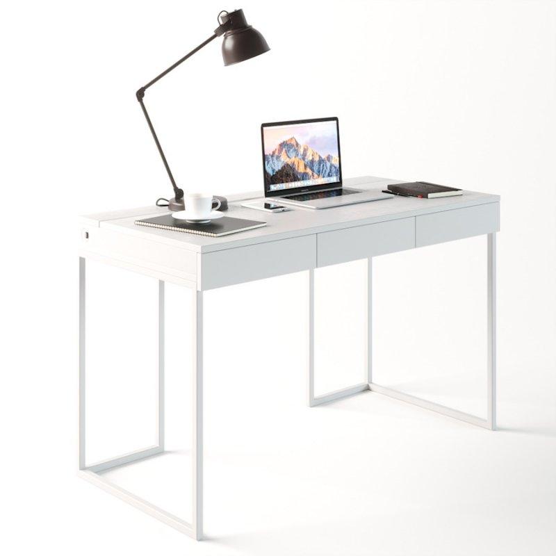 Компьютерный стол Fenster Моррис 2 Белый 73x120x60 столешница Белая