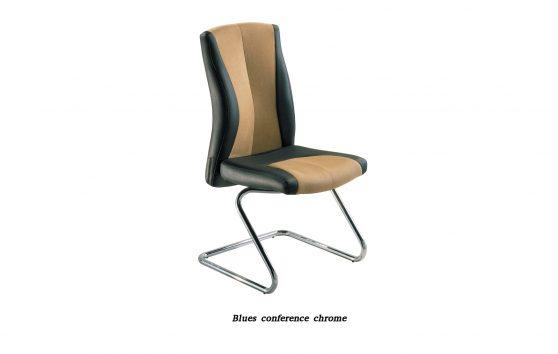 Кресло Блюз конференц хром