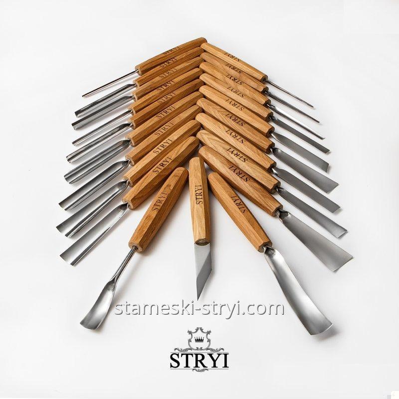 Набор профессиональных стамесок для резьбы по дереву, аналог PFEIL, 21 штук, арт.S21001