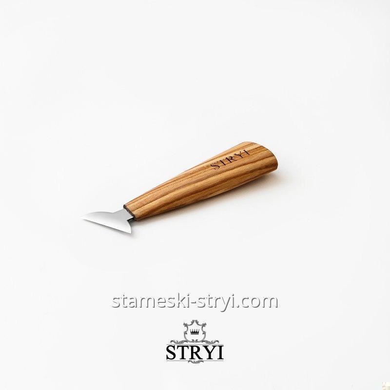 Стамеска нож-топорик STRYI для резьбы по дереву, 40 мм, арт.187040