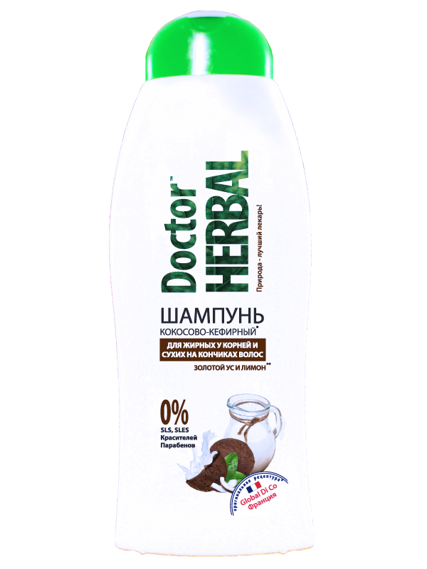 Купить Шампунь «Кокосово-кефирный» 400 ml ТМ Doctor Herbal