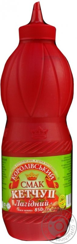 "Buy Gentle Ketchup TM ""Royal taste"", 850 g (bottle) * 9 pc"