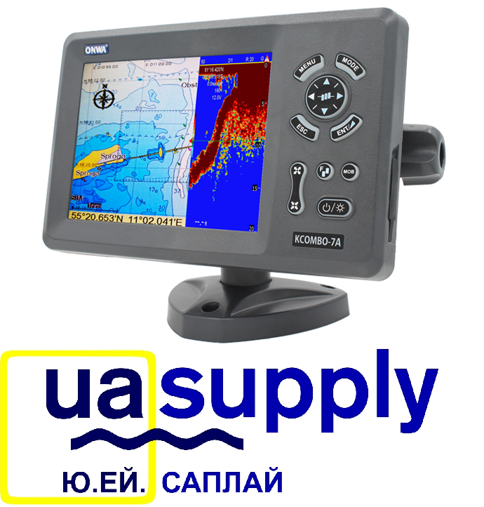 """7"""" GPS Chart Plotter with Fish Finder and built-in AIS Transponder with Internal GPS Antenna"""