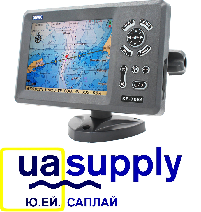7″ Colored GPS Plotter with Internal GPS Antenna and built-in Class B AIS Transponder KP-708A/708A+