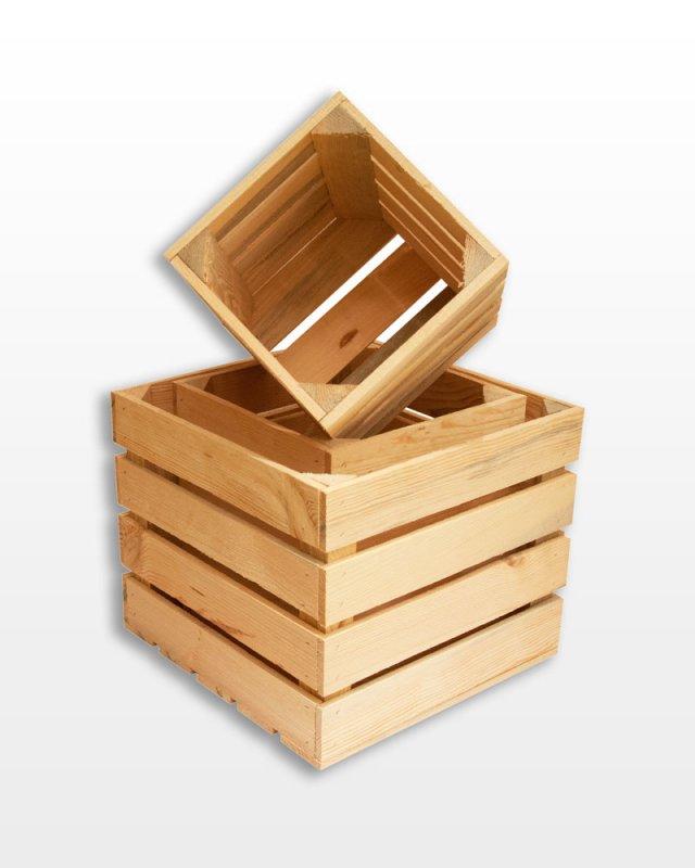 Buy Set deep natural boxes