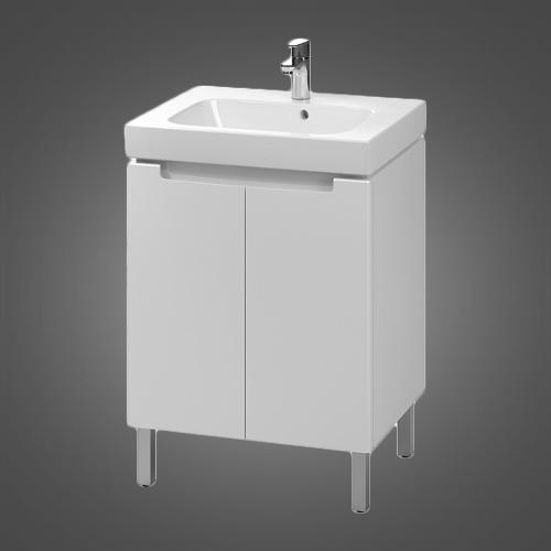 Купить Комплект шкафчик под умывальник 60 см+умывальник мебельный 60 см,белый (пол.) KOLO MODO (L39002000)