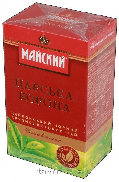"""Купить Чай чорний байховий ТМ """"Майский"""" Царська Корона , 85 г * 48 шт"""