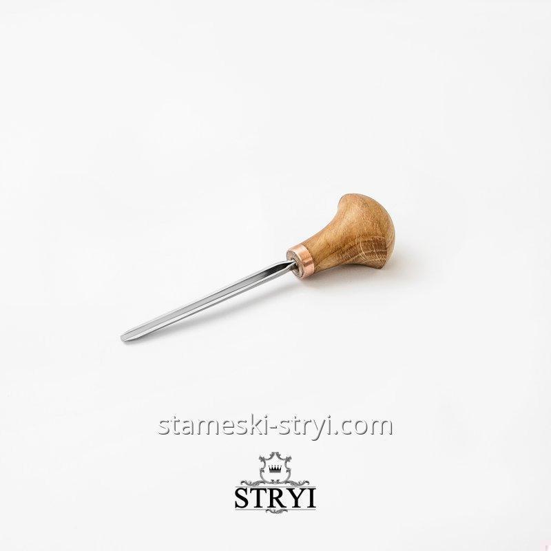 Штихель STRYI угловой 45 градусов для резьбы по дереву, высота 5 мм, арт.34505