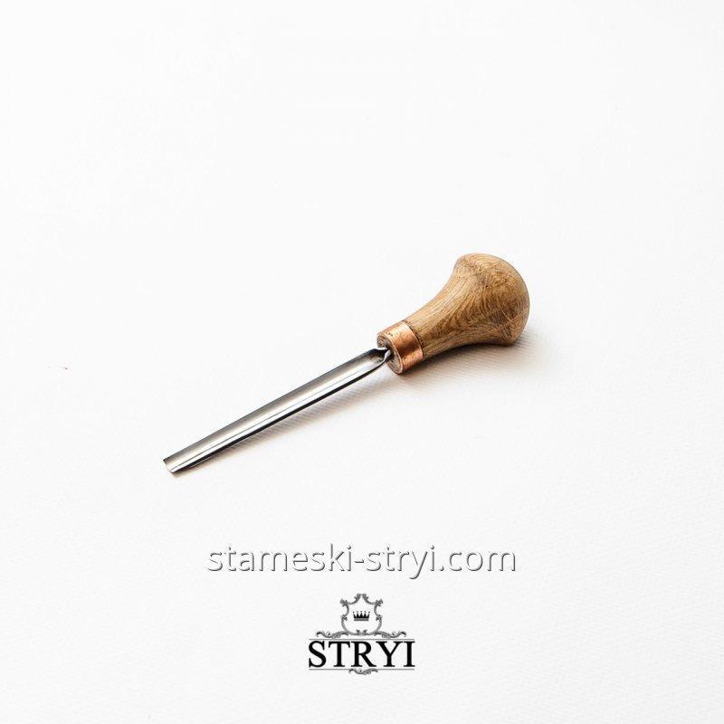 Штихель полукруглый STRYI для резьбы и гравировки, 5 мм арт. 30805