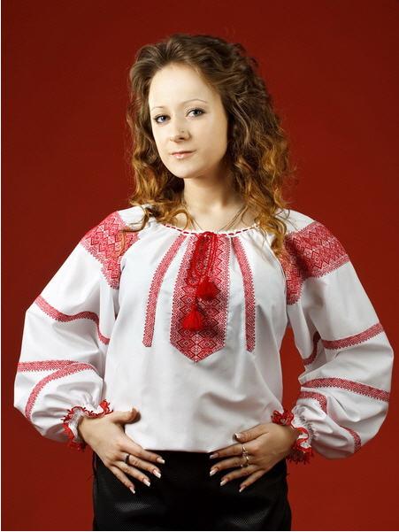 Вышитые рубашки, Женская блузка - вышиванка ЖБ 2