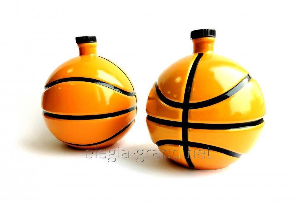 """Бутылка для водки """"Баскетбольный мяч"""""""