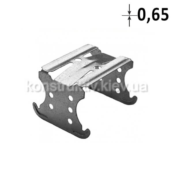 ГК Соеденитель крестовой-двухуровневый для СД-профиля (0,65мм)