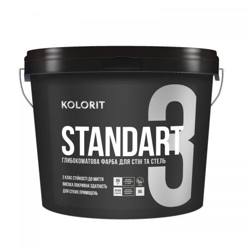 Краска интерьерная Колорит STANDART 3, 9 кг (База А)