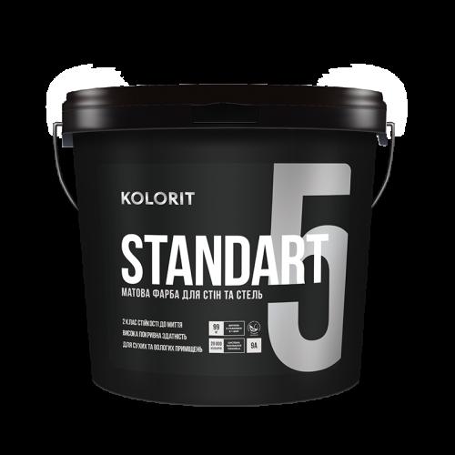 Краска интерьерная Колорит STANDART 5, 9 кг (База А)