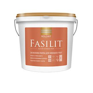 Краска фасадная Колорит FASILIT, 9 кг (База LC)
