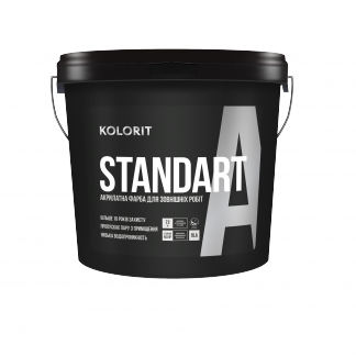 Краска фасадная Колорит STANDART А, 9 кг (База LС)