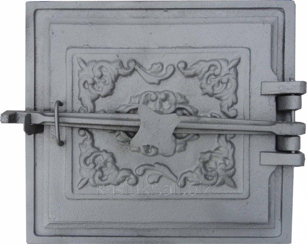 Дверка топочная ДТЗК на закрутке с отражателем (330 х 365 мм.)