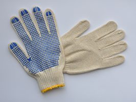 Buy Working gloves knitted with PVC a poin