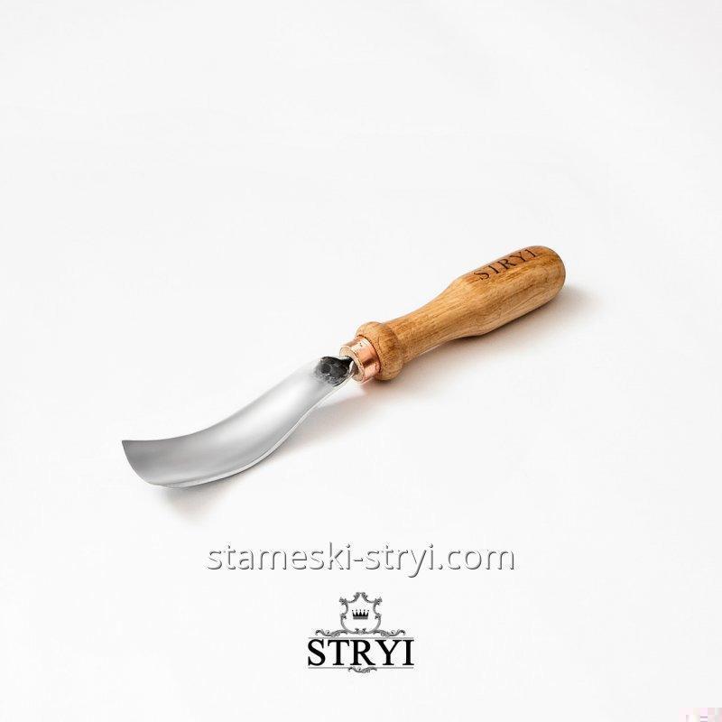Стамеска STRYI полукруглая изогнутая для резьбы по дереву, 25 мм, арт.10825