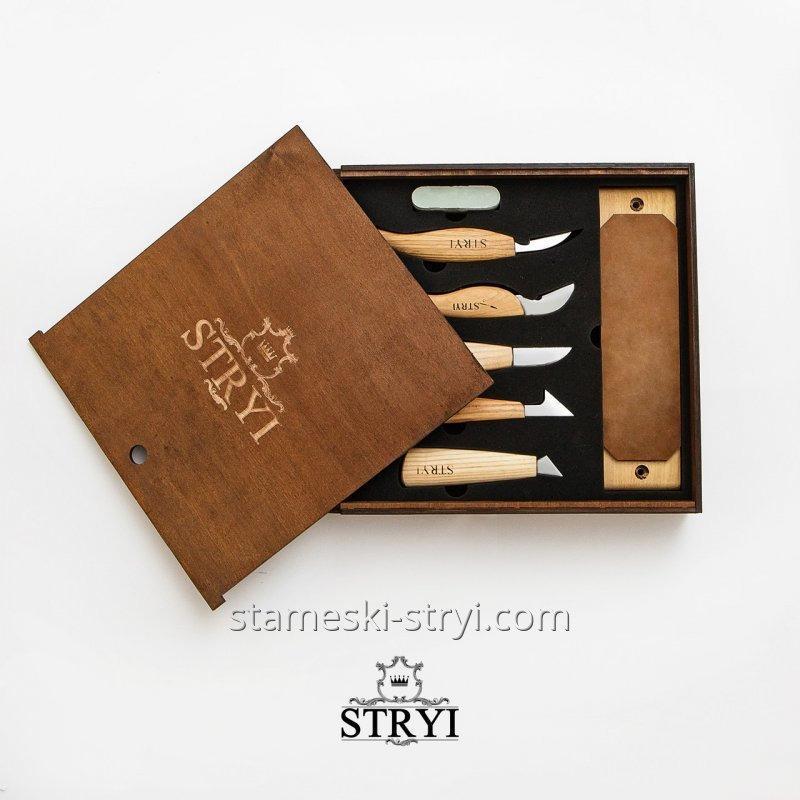 Набор ножей для резьбы по дереву STRYI, 5 штук, арт.S05006