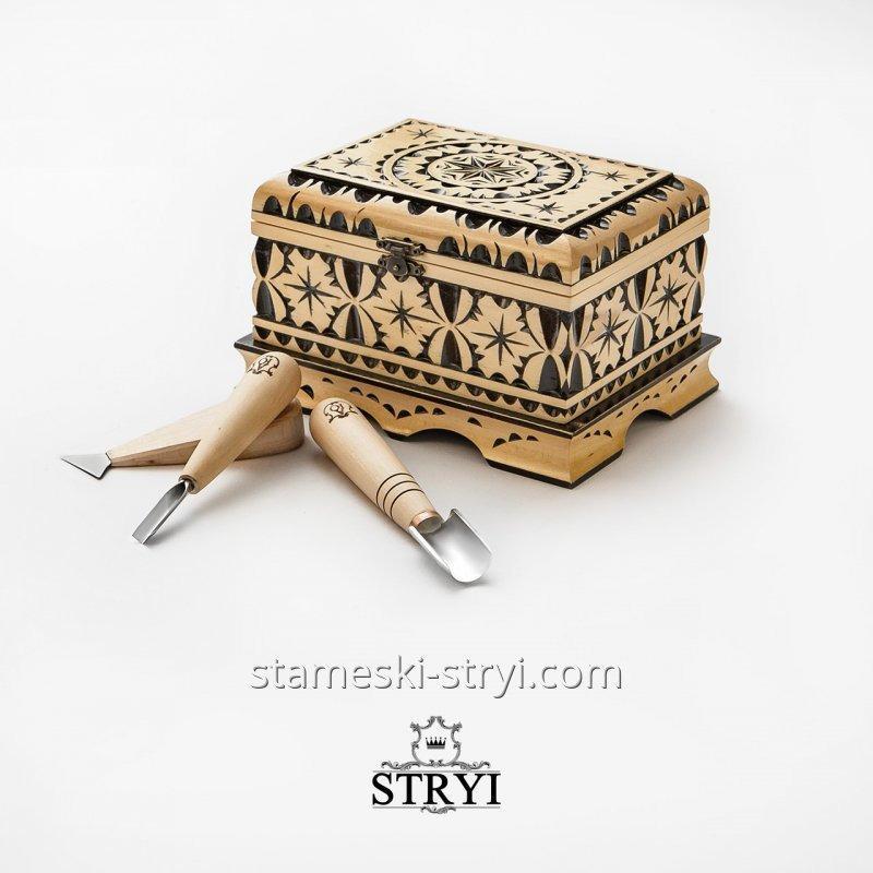 Набор стамесок STRYI для начинающего, из 3 штук, арт. А03002
