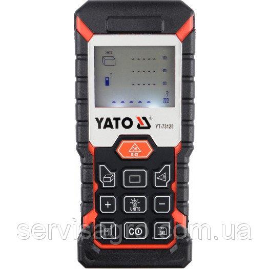 Дальномер лазерный YATO 8-режимный, 0,05 - 40 м, погрешность ±2 мм