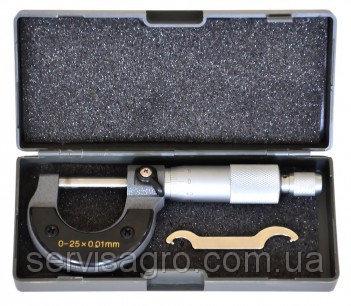 Микрометр 0–25 мм 0,01–0,25 мм