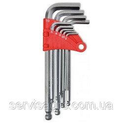 Купить Набор ключей TECHNICS имбусовых с шаром 1,5–10 мм, 9 шт.