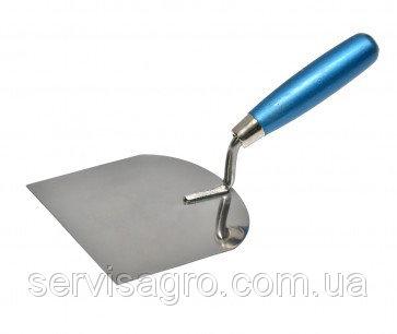 Купить Кельма штукатурная стальная с нержавеющим покрытием 130х120 мм