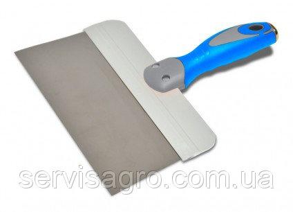 Шпатель стальной с нержавеющим покрытием, двухкомпонентная ручка, 150 мм