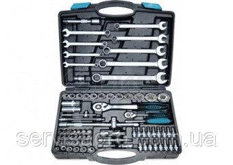 """Набор головок 1/2"""",1/4""""(4-32мм), ключей (8-22мм), Cr-V, 82 предмета в кейсе, Berg"""