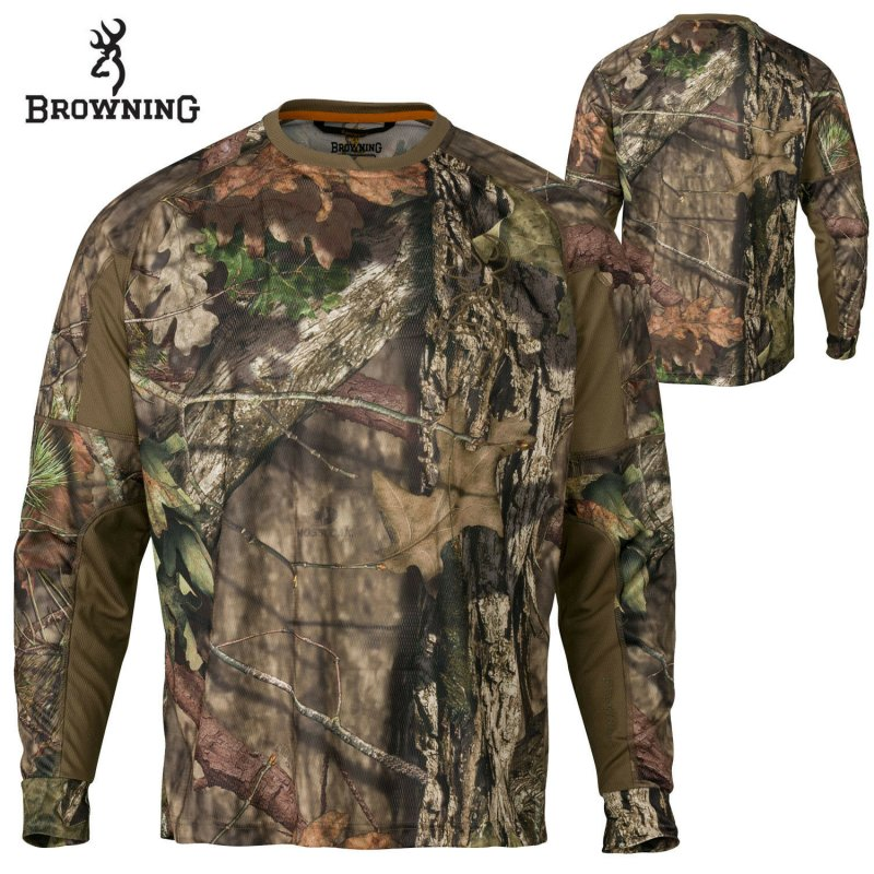 Футболка для охоты с длинным рукавом Browning Hell's Canyon Cardiff Long-Sleeve Tech Crew - Mossy Oak Country