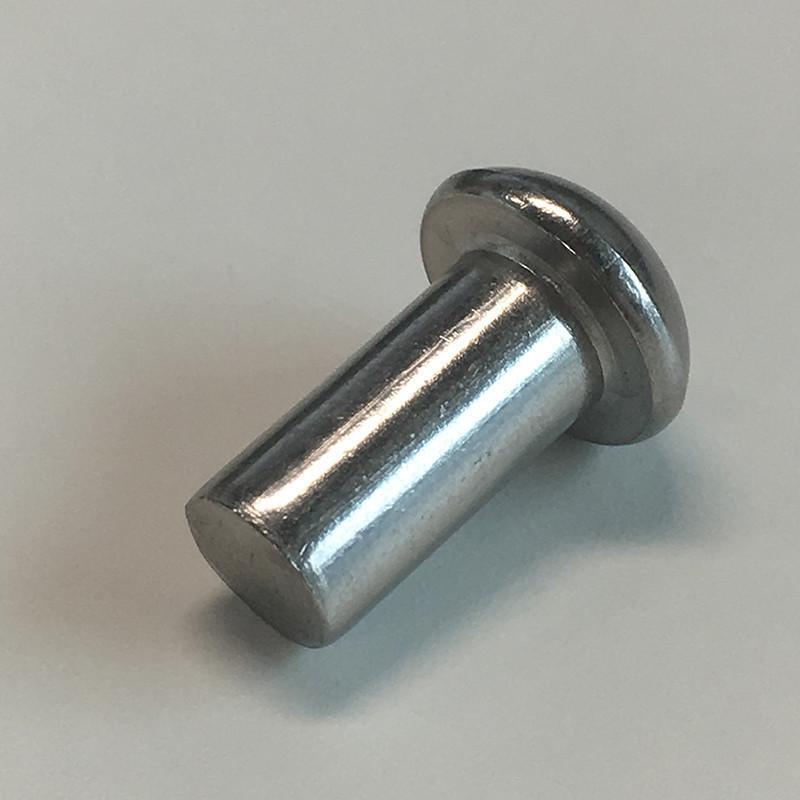 Купить Заклепка алюминиевая 5х10 с полукруглой головкой под молоток DIN 660