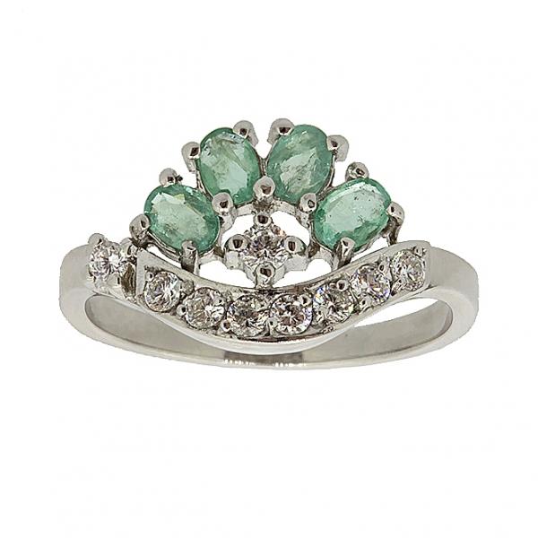 кольцо корона с изумрудами фото когда был