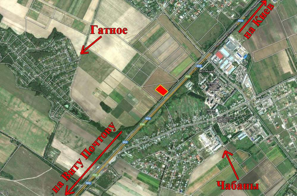 Земельные участки Гатное, участок 1 га. Земли под дачное строительство. Купить участок Гатное. Купить земельный участок
