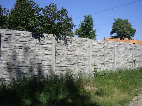 Купити Огородження бетонні, огородження панельні, продаж і установка бетонних заборів, бетонні забори для дачі, залізобетонні забори в Броварах.
