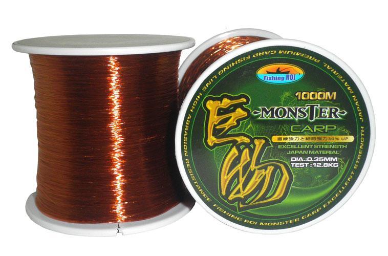 Купить Леска Fishing Roi Carp Line Brown 1000 м