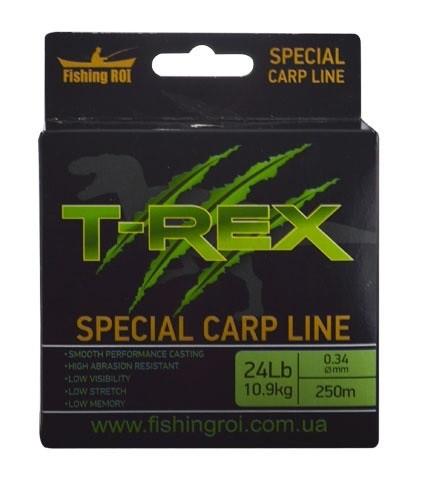 Купить Леска Fishing Roi T-REX Special Carp Line Brown