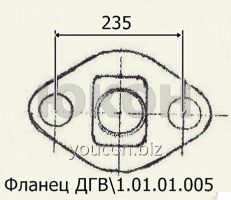 Фланец ДГВ 1.01.01.005 - Плита Б6-ДГВ