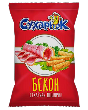 Wheat crackers with the taste of bacon TM «Sukharyok»