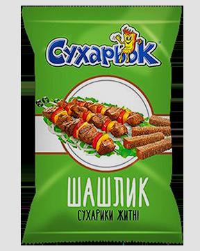 Купить Сухарики ржаные со вкусом шашлыка «Сухарьок»
