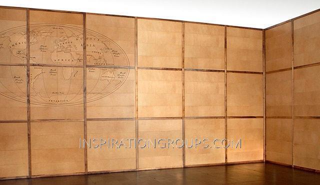 Стеновые панели из ткани, кожи